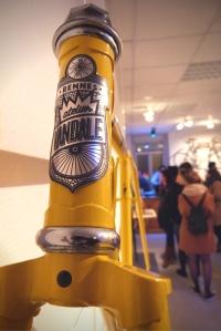 Plaque acier sur vélos vintage