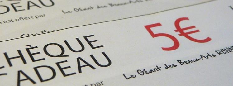 Bons d'achat Géant des beaux arts de Rennes